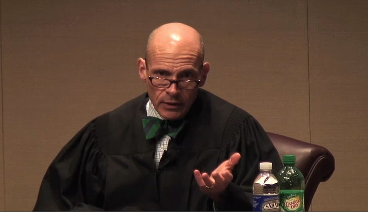 """We think Judge Grimm was asking Aaron Walker """"are you serious?"""" when this picture was snapped"""
