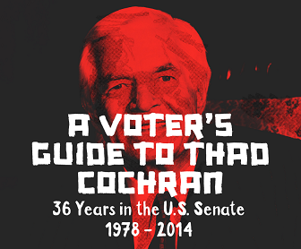 Cover of the FreedomWorks Voter's Guide to Thad Cochran