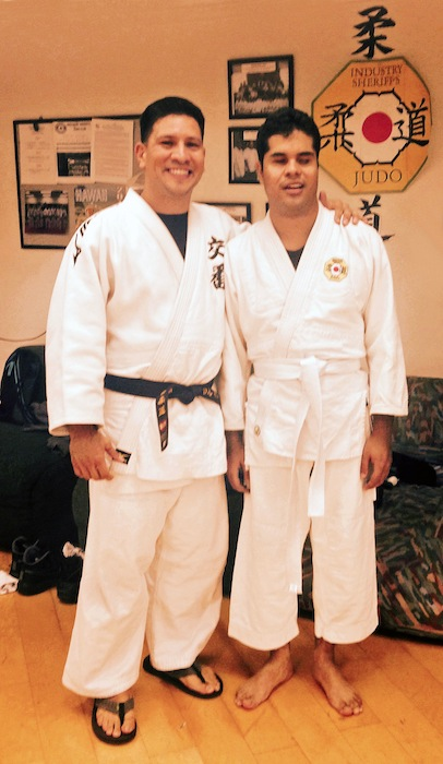 Sensei David Matute and Edgar Cabachuela