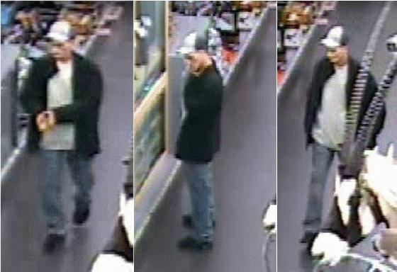 surveilance photo of thief