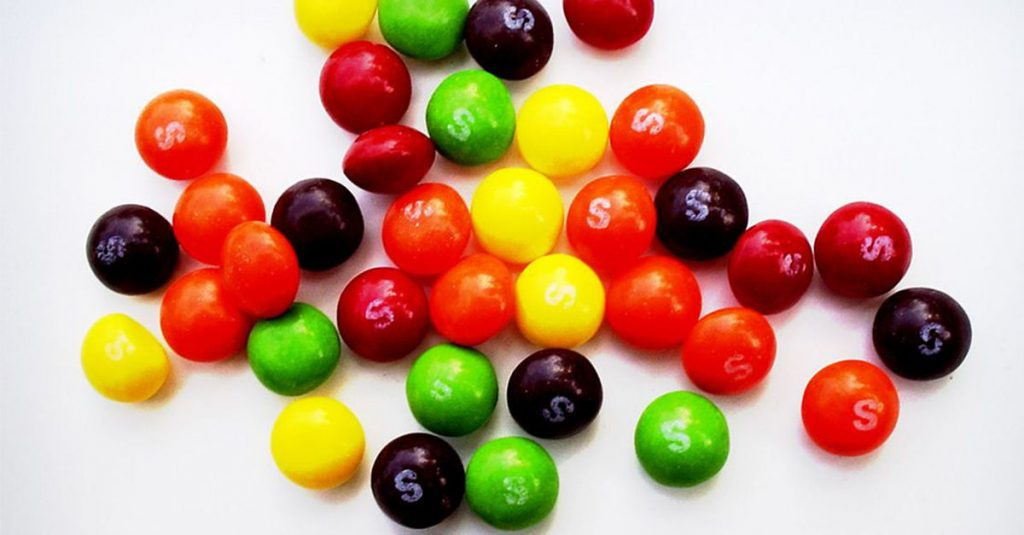 This would be about a handful of Skittles.