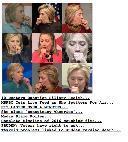 Drudge Report On Hillary Coughing Attack