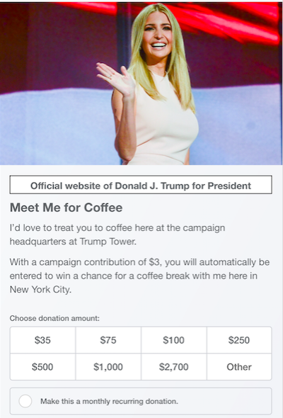Coffee With Ivanka 3 Dollars