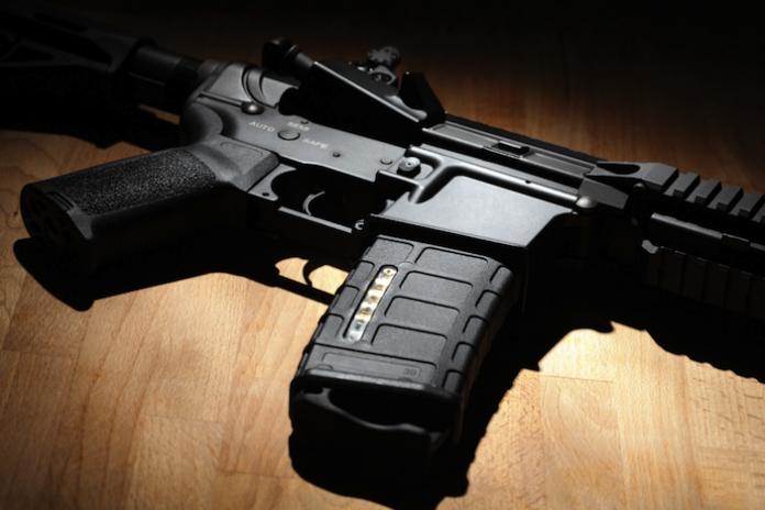 AR-15 closeup