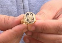 image of a Nazi ring that fell out of vending machine