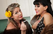 image of two 40-something women smoking pot