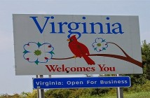 Virginia State sign