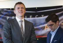James O'Keefe (left), pictured in 2015, has carried out a series of high-profile video operations against organizations like Planned Parenthood and ACORN, as well as news outlets, including NPR and CNN. | Pablo Martinez Monsivais/AP Photo